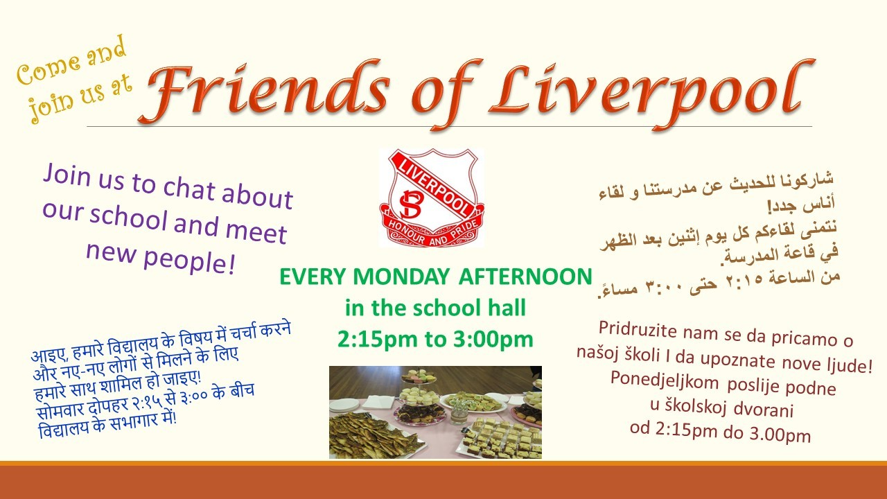 Join Friends of Liverpool every Monday to meet new people from diverse backgrounds.